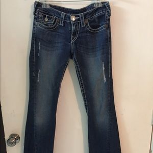 True religion joey big t jeans size 27 Distressed
